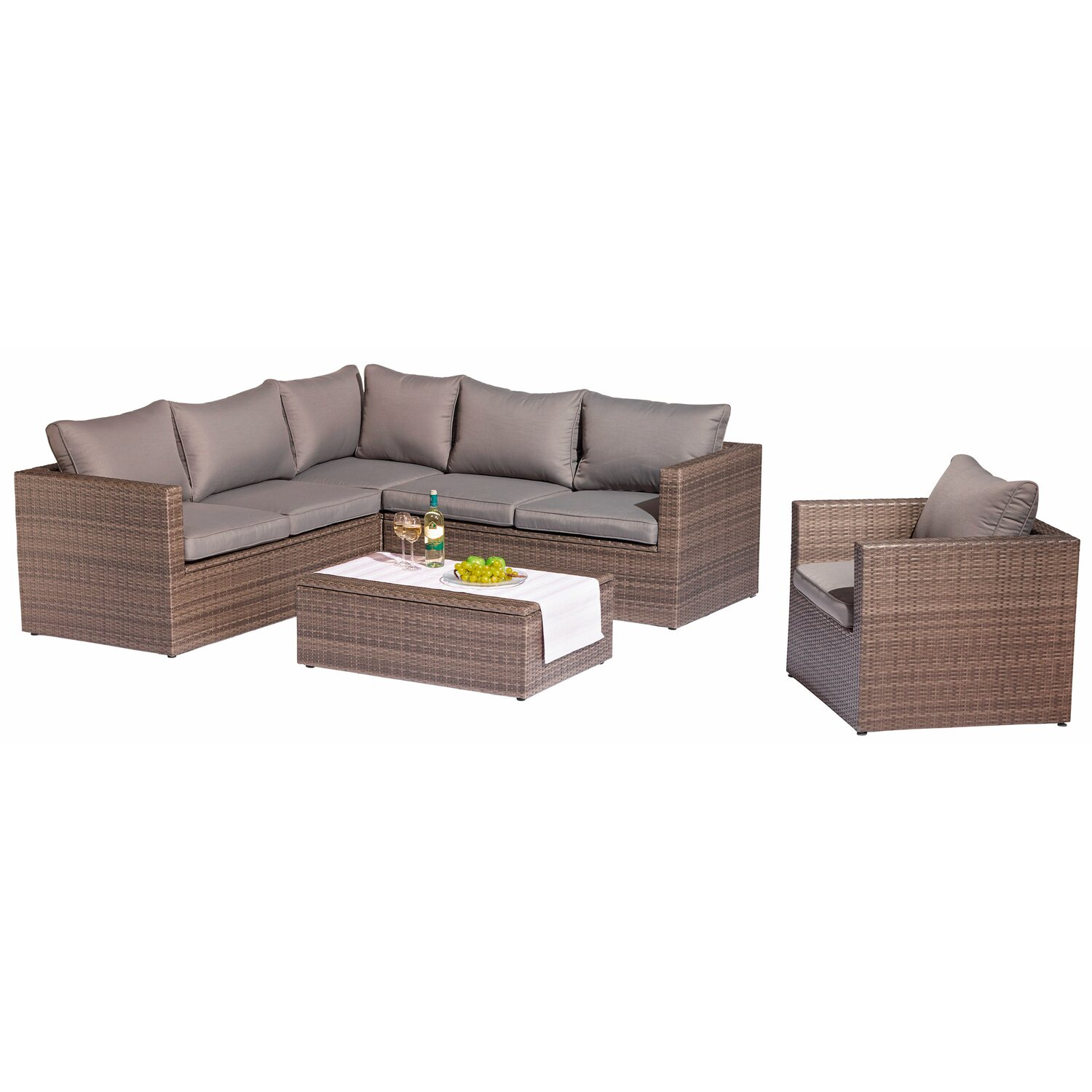 obi gartenm belgruppe livingston 5 teilig kaufen bei obi. Black Bedroom Furniture Sets. Home Design Ideas