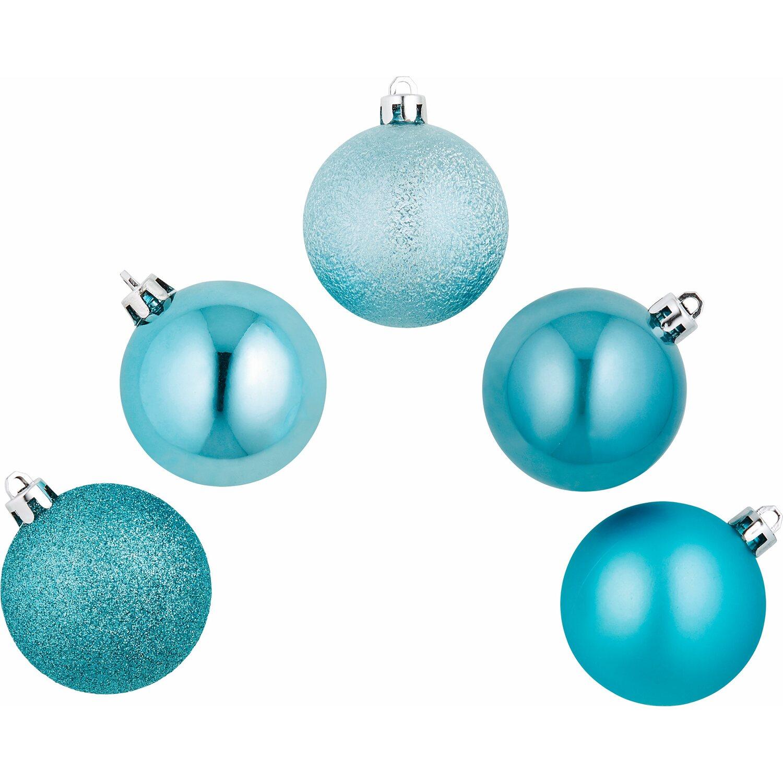 Weihnachtsbaumkugel set 25 teilig eisblau kaufen bei obi - Obi weihnachtskugeln ...