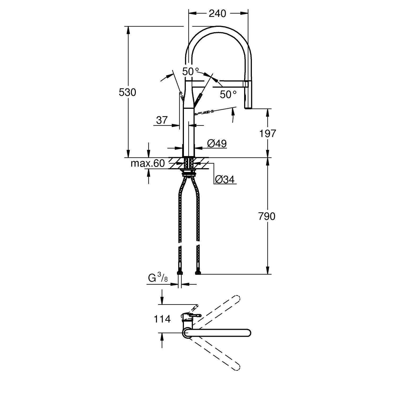 Grohe Einhand-Küchenarmatur Essence Chrom kaufen bei OBI