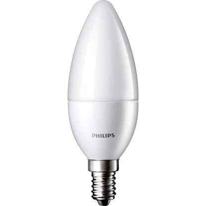 Philips LED-Lampe EEK: A+ Kerzenform E14 / 5,5 W (470 lm) Warmweiss