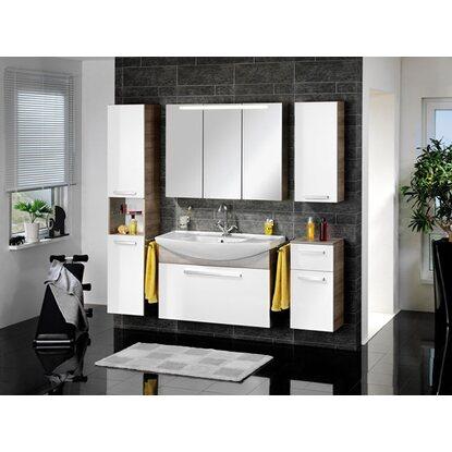 fackelmann hochschrank 5 b den a vero eiche weiss kaufen bei obi. Black Bedroom Furniture Sets. Home Design Ideas