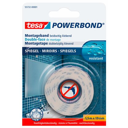 tesa Powerbond Montageband Mirror 1,5 m x 19 mm