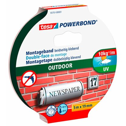 tesa Powerbond Montageband Outdoor 5 m x 19 mm
