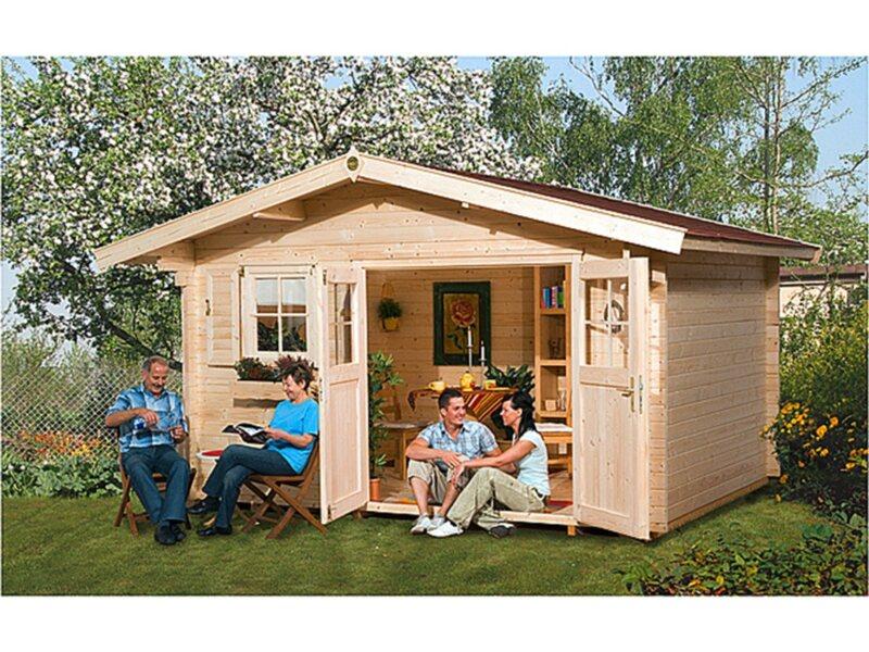 weka holz gartenhaus verona a 340 cm x 250 cm kaufen bei obi. Black Bedroom Furniture Sets. Home Design Ideas