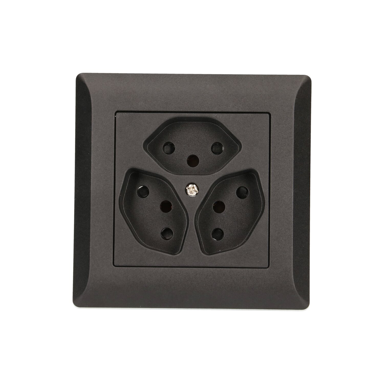 up steckdose kallysto hager typ13 schwarz kaufen bei obi. Black Bedroom Furniture Sets. Home Design Ideas