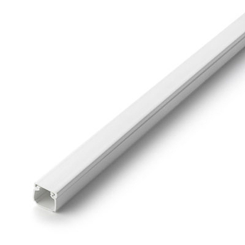 Kabelkanal 16 mm x 16 mm 2 m Weiss mit Deckel kaufen bei OBI
