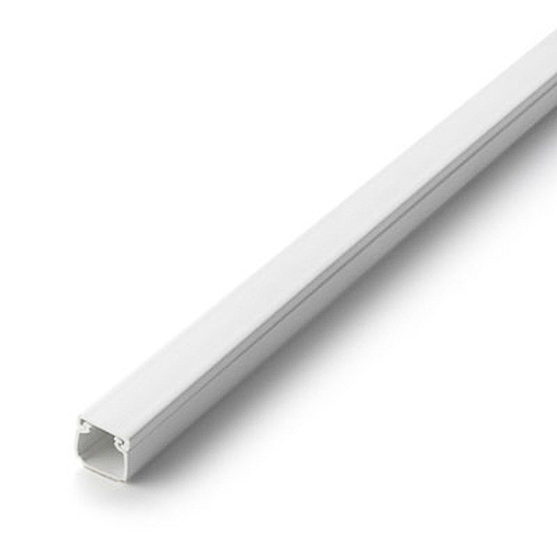Kabelkanal 16 mm x 16 mm 2 m Weiss mit Deckel selbstklebend kaufen ...