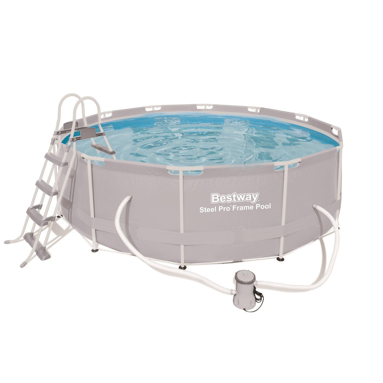 Bestway steel pro frame pool set 366 cm x 100 cm for Pool filterpumpe obi
