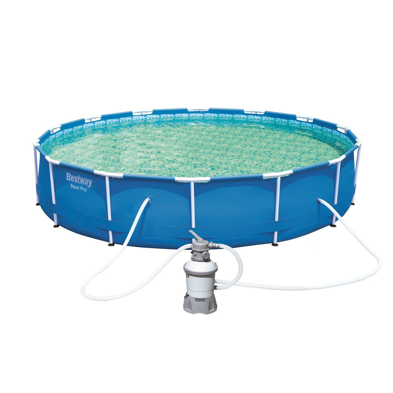 Bestway steel pro frame pool set 427 cm x 84 cm for Bestway obi