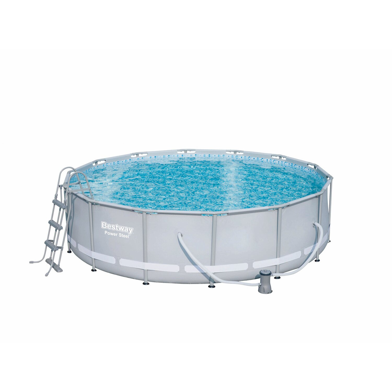 Bestway steel pro frame pool set 427 cm x 107 cm for Obi filterpumpe