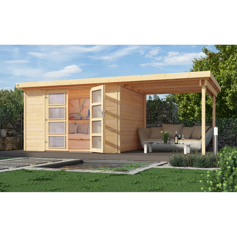 weka gartenhaus 321 mit anbau 230 cm gr 1 natur kaufen bei obi. Black Bedroom Furniture Sets. Home Design Ideas
