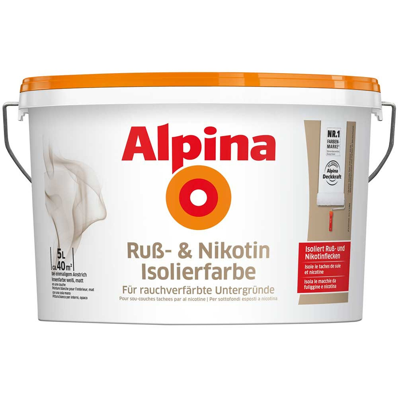 Alpina Russ- und Nikotin Isolierfarbe 5 l