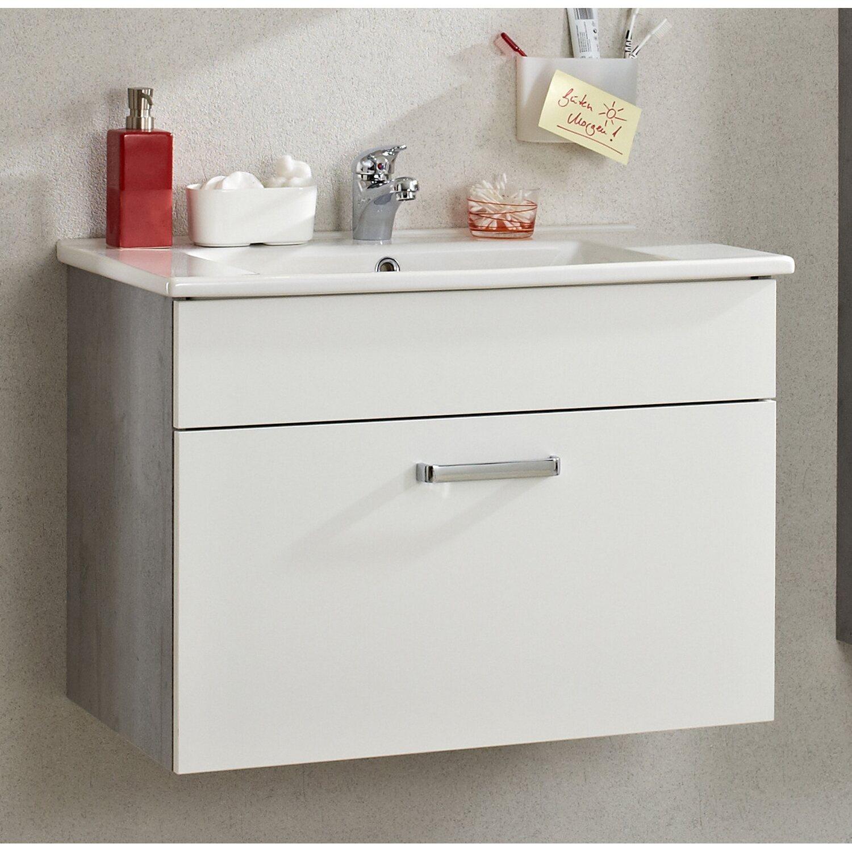Pelipal Waschtischunterschrank 913 Weiss / Betonoptik 72 cm kaufen ...
