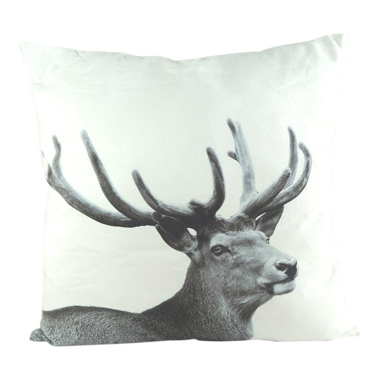 kissen hirsch schwarz weiss 60 cm x 60 cm kaufen bei obi. Black Bedroom Furniture Sets. Home Design Ideas