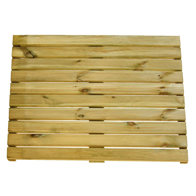 Bekannte Holz-Fliese geriffelt druckimprägniert 100 cm x 3,6 cm x 100 cm EP09