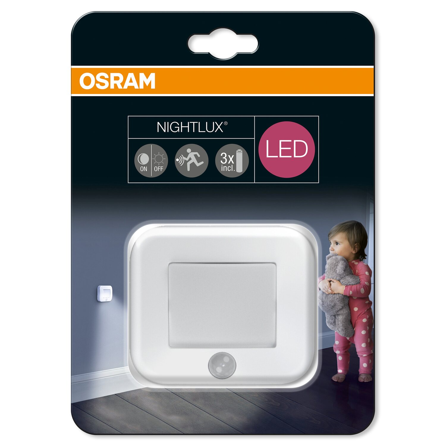 osram led nachtlicht nightlux hall mit sensor weiss kaufen bei obi. Black Bedroom Furniture Sets. Home Design Ideas