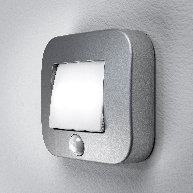 osram led nachtlicht nightlux hall mit sensor silberfarben. Black Bedroom Furniture Sets. Home Design Ideas