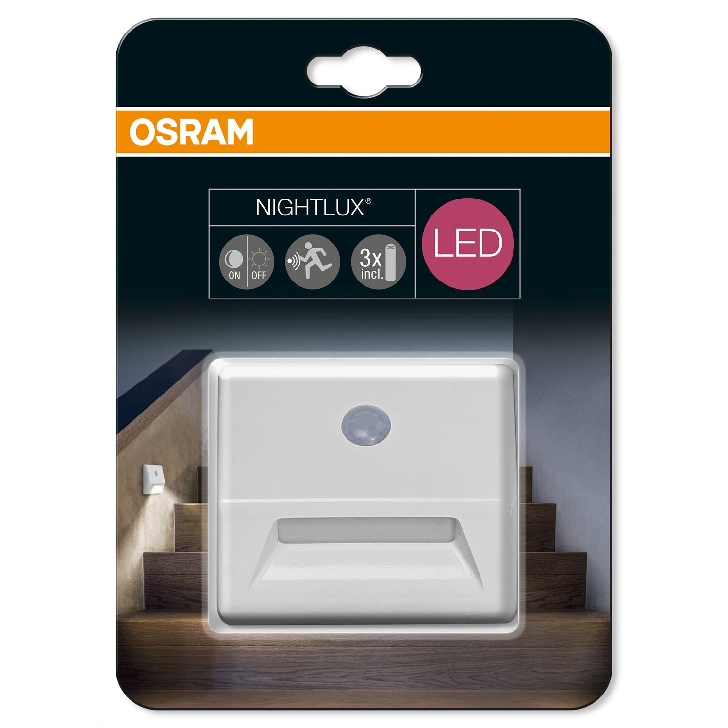 osram led nachtlicht nightlux stair mit sensor weiss kaufen bei obi. Black Bedroom Furniture Sets. Home Design Ideas