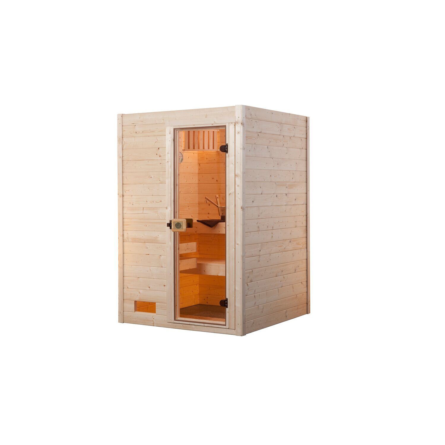 weka massivholz sauna 537 gr 1 mit glast r ohne ofen kaufen bei obi. Black Bedroom Furniture Sets. Home Design Ideas