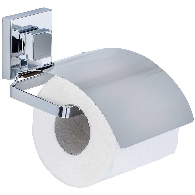 WENKO Toilettenpapierhalter Cover weiß