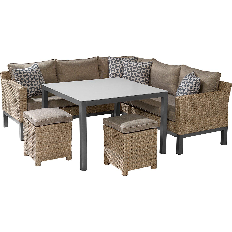 obi gartenm bel lounge gruppe brogan 5 teilig kaufen bei obi. Black Bedroom Furniture Sets. Home Design Ideas