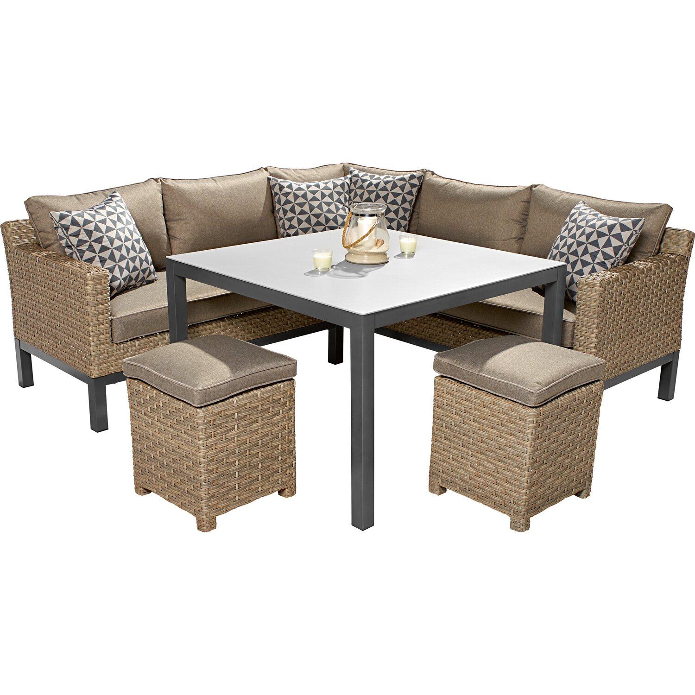 OBI Gartenmöbel Lounge-Gruppe Brogan 5-teilig kaufen bei OBI