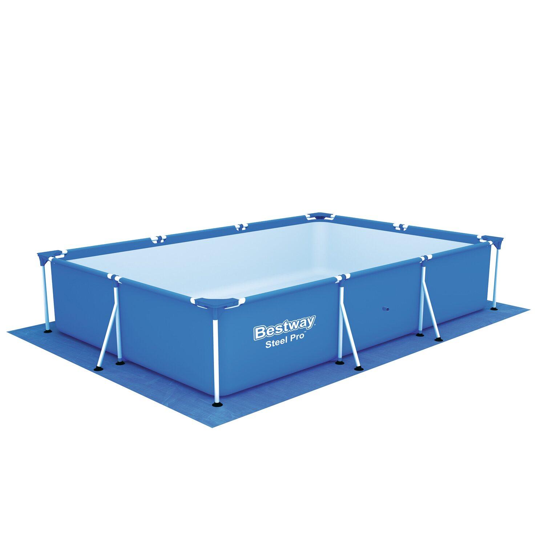 Bestway bodenplane splash frame pool 300 cm x 201 cm x 66 for Bestway obi