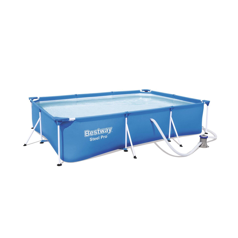 Deluxe splash frame pool 300 cm x 201 cm x 66 cm kaufen for Frame pool obi