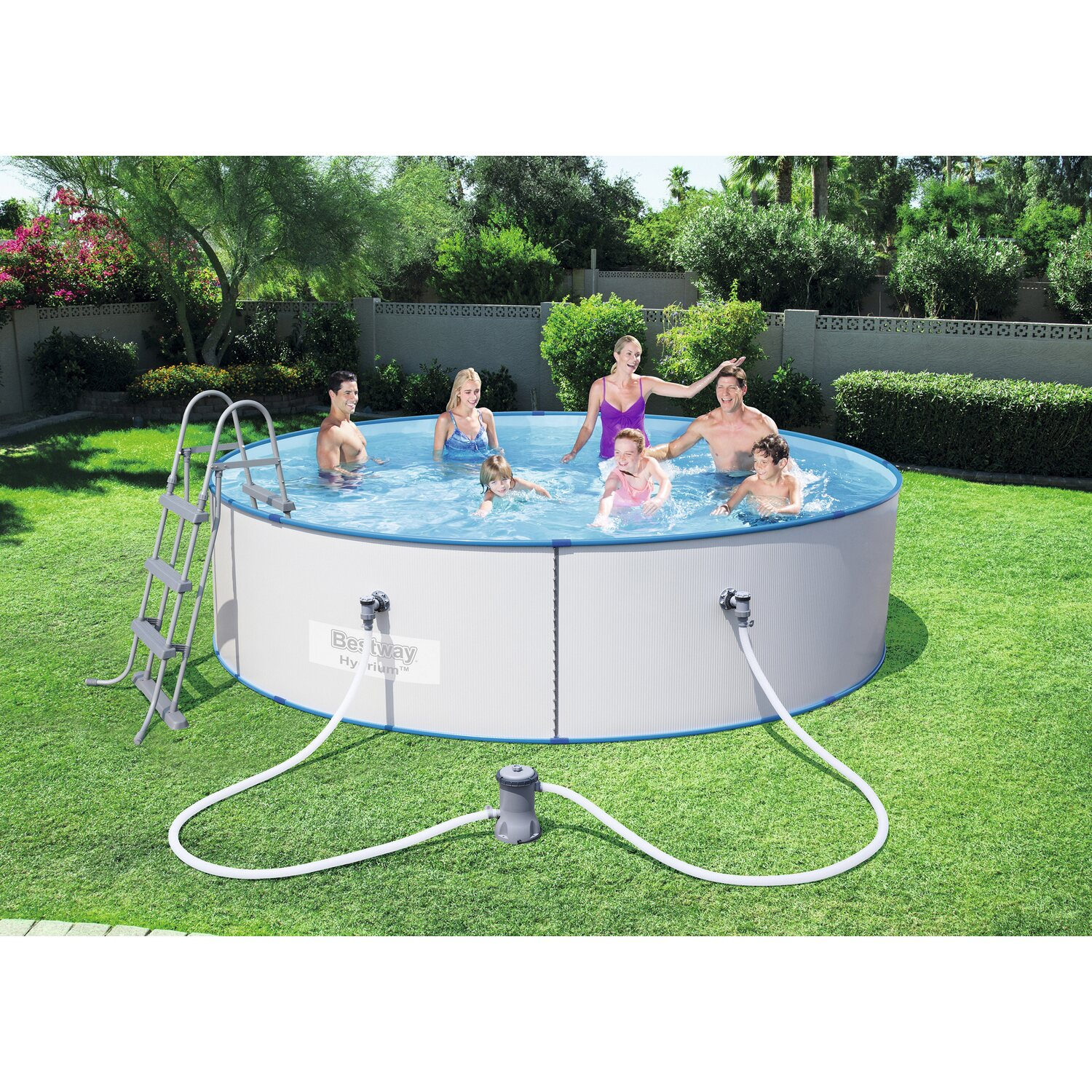 Bestway stahlwand pool set hydrium splasher 360 cm x 90 cm for Bestway pool obi