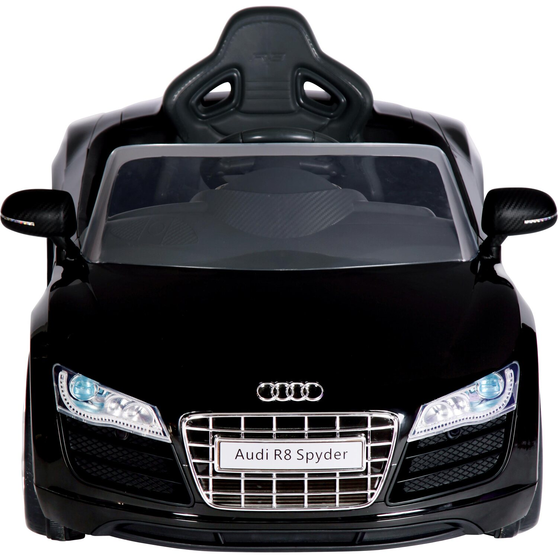 kinder elektroauto audi r8 spyder schwarz kaufen bei obi. Black Bedroom Furniture Sets. Home Design Ideas