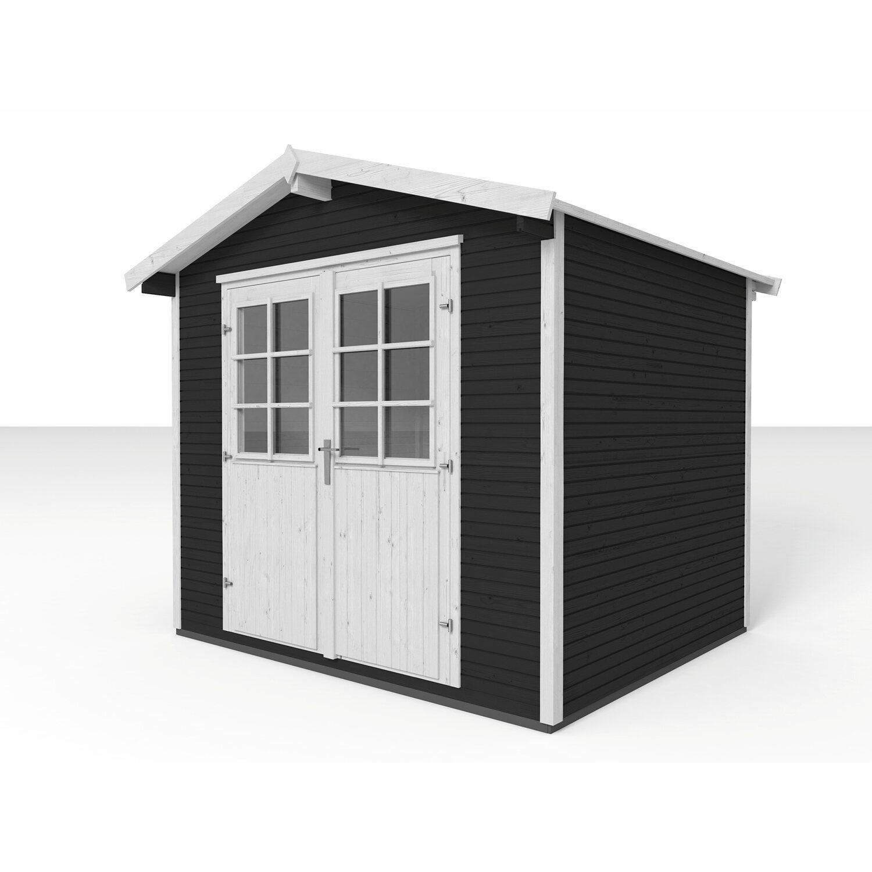 Weka Gartenhaus 218 Gr. 3 Satteldach 28 mm Anthrazit kaufen bei OBI