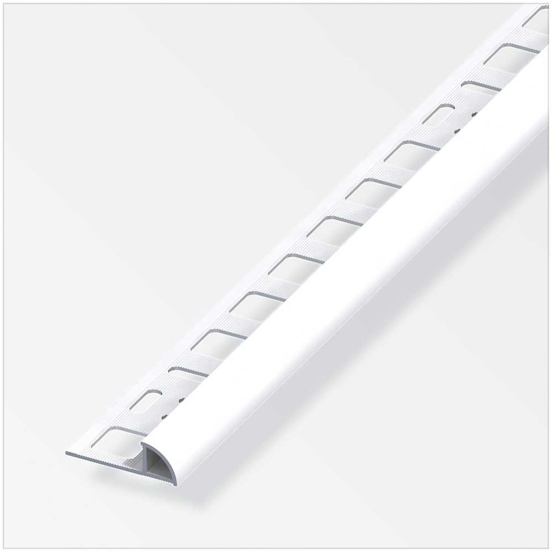 Viertelkreis Profil Aluminium Brillant Weiss HxBxT 8,8 x 8 x 188 ...
