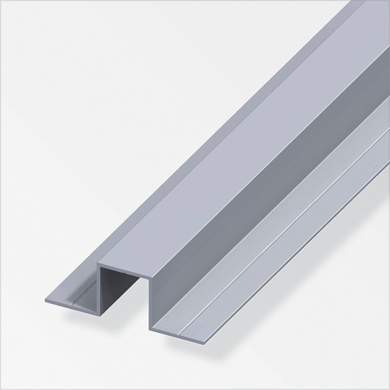 combitech quadrat u profil aluminium mit 2 schenkel 23 5 mm x 1 m kaufen bei obi. Black Bedroom Furniture Sets. Home Design Ideas
