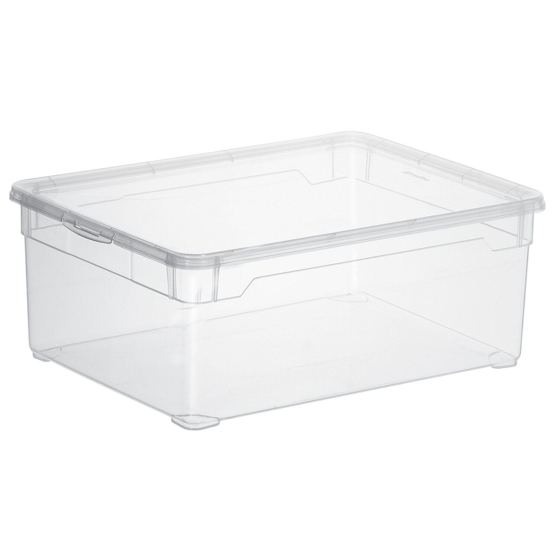 rotho clear box man shoe transparent 10 l kaufen bei obi. Black Bedroom Furniture Sets. Home Design Ideas