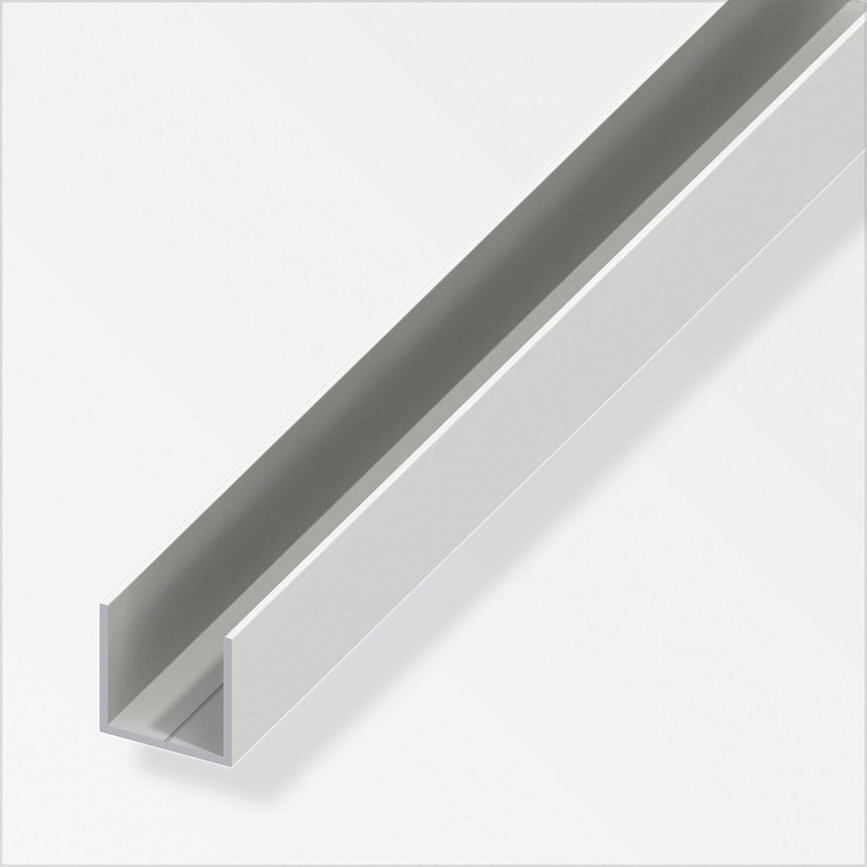 Extrem Quadrat-U Profil PVC Weiss 23,5 mm x 1 m kaufen bei OBI DW24