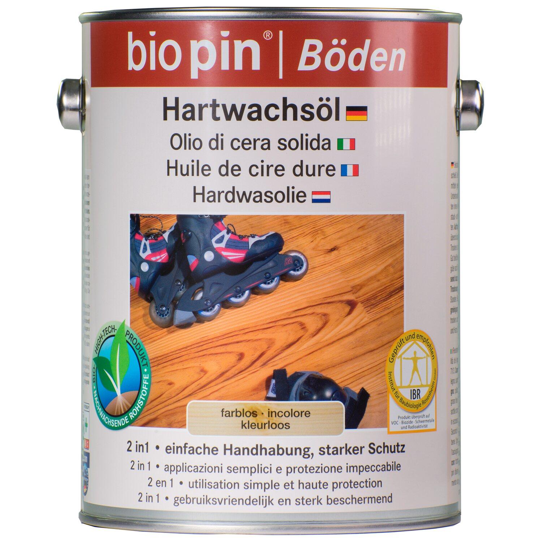 Biopin Hartwachsöl Transparent seidenglänzend 2,5 l