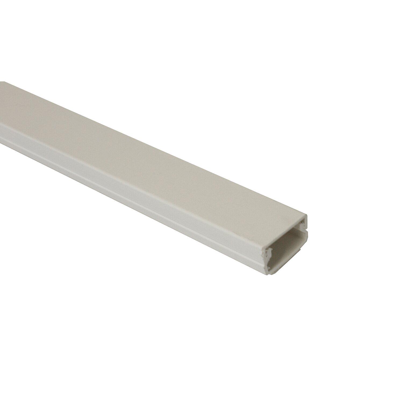 Kabelkanal 20 mm x 10 mm 2 m Weiss mit Deckel selbstklebend kaufen ...