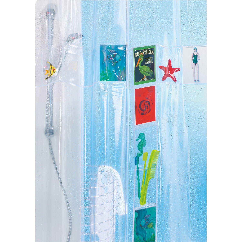spirella duschvorhang postcard 180 cm x 200 cm clear. Black Bedroom Furniture Sets. Home Design Ideas
