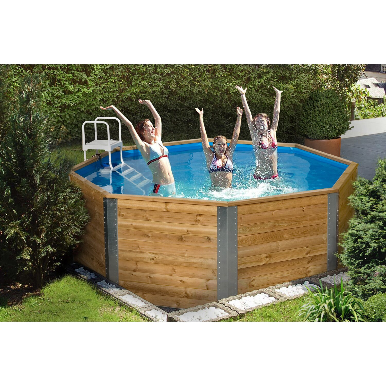 Weka massivholzpool 593 kaufen bei obi for Swimming pools bei obi