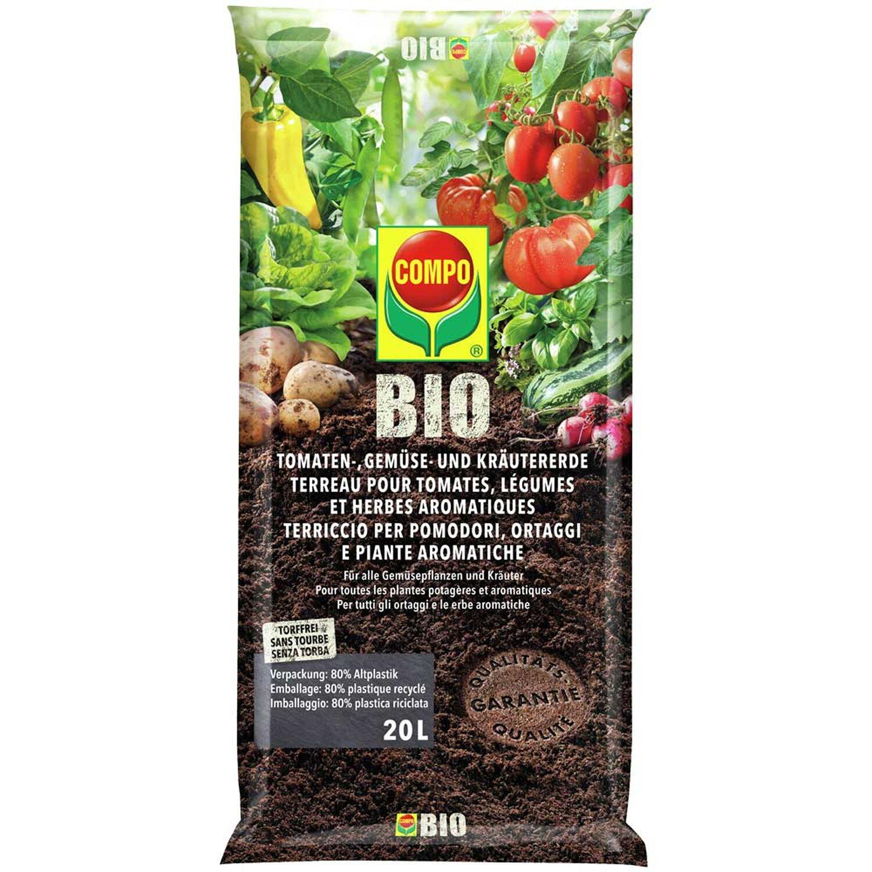 compo bio tomaten gem se und kr utererde torffrei 20 l kaufen bei obi. Black Bedroom Furniture Sets. Home Design Ideas