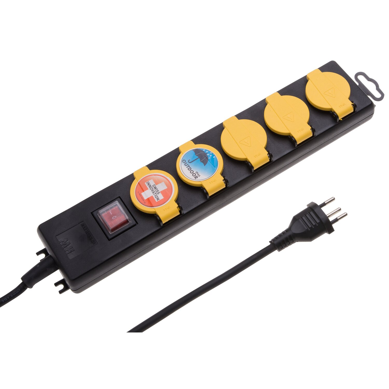 Hervorragend Steckdosenleiste 5-fach mit Schalter IP44 Schwarz kaufen bei OBI GL06
