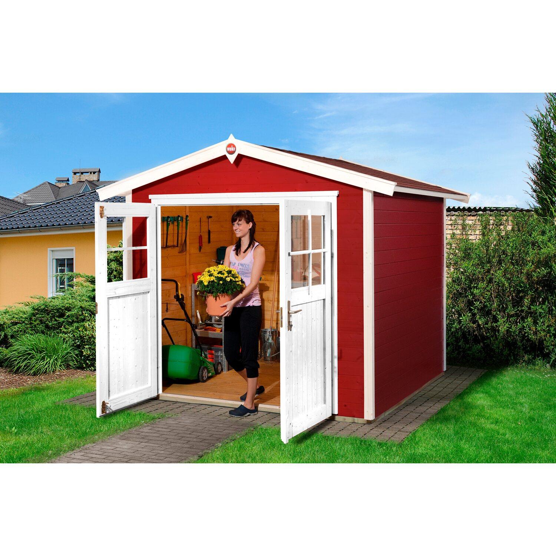 weka gartenhaus 224 gr 3 schwedenrot kaufen bei obi. Black Bedroom Furniture Sets. Home Design Ideas
