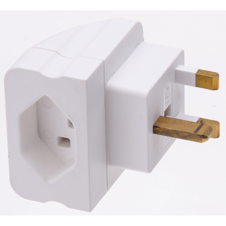 bergangsstecker england typ 23 3 polig weiss kaufen bei obi. Black Bedroom Furniture Sets. Home Design Ideas