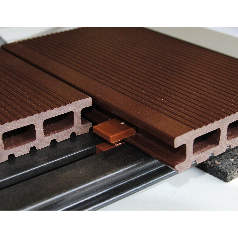 terrassen montageclip kunststoff braun 25 stück kaufen bei obi