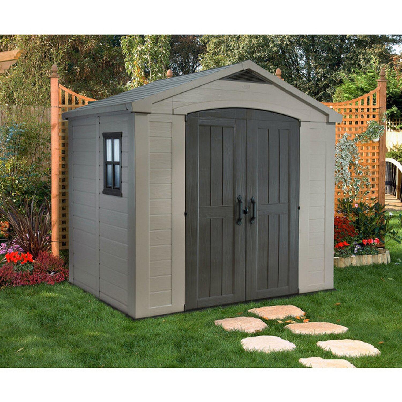 Keter Kunststoff Gartenhaus Factor 8x6 256,5 cm x 182 cm kaufen