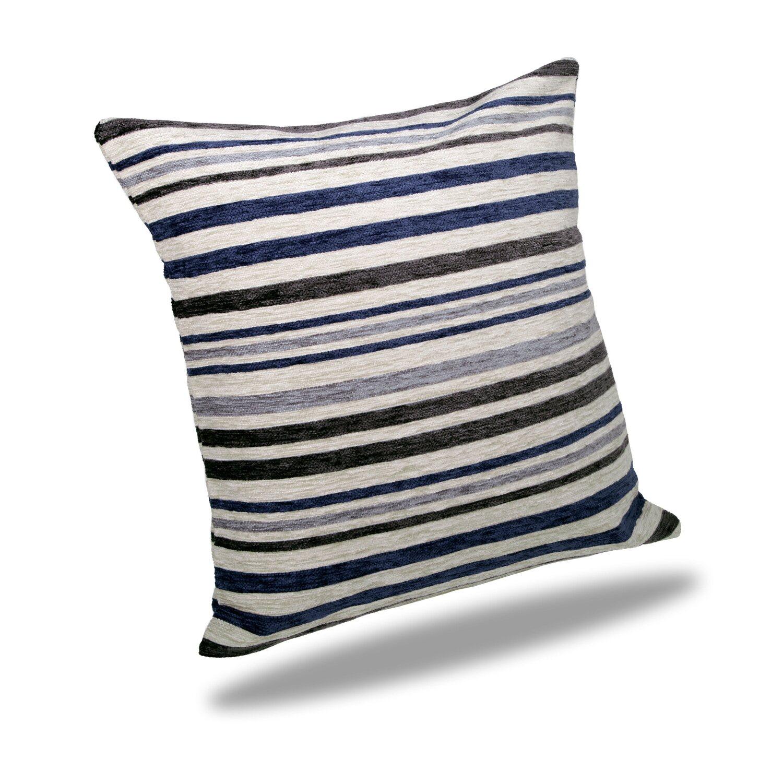 kissen mit reissverschluss oslo blau grau 50 cm x 50 cm kaufen bei obi. Black Bedroom Furniture Sets. Home Design Ideas