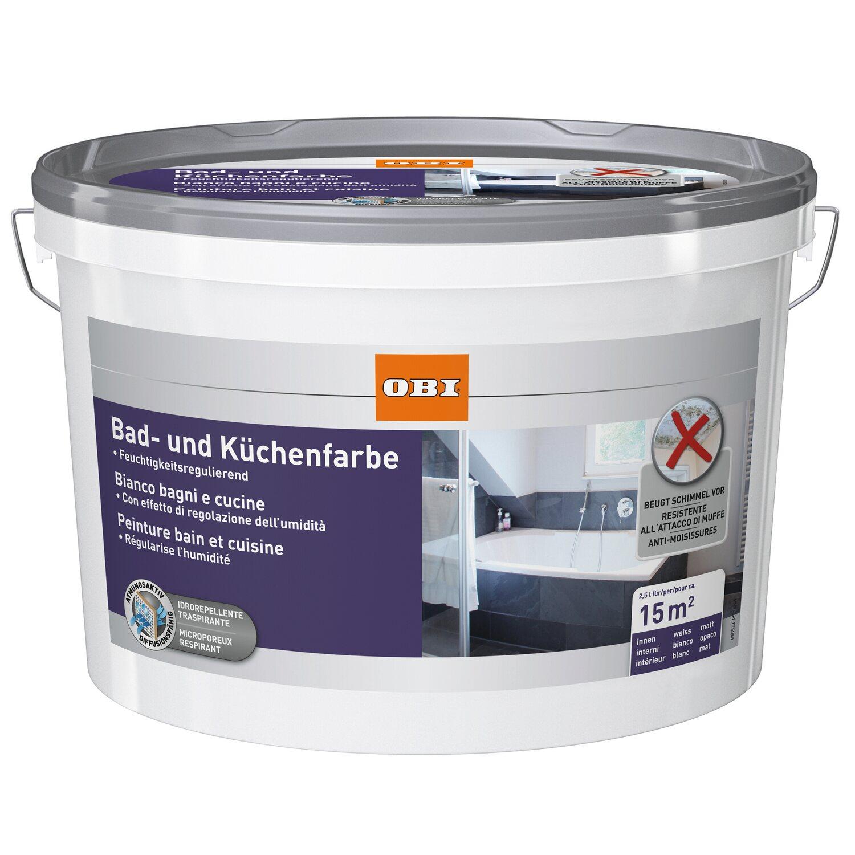 OBI Bad- Und Küchenfarbe Weiss 2,5 L Kaufen Bei OBI