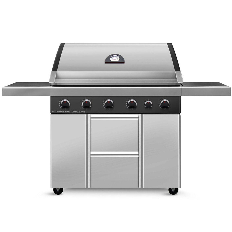grill me gasgrill manhattan 5 brenner mit seitenbrenner. Black Bedroom Furniture Sets. Home Design Ideas