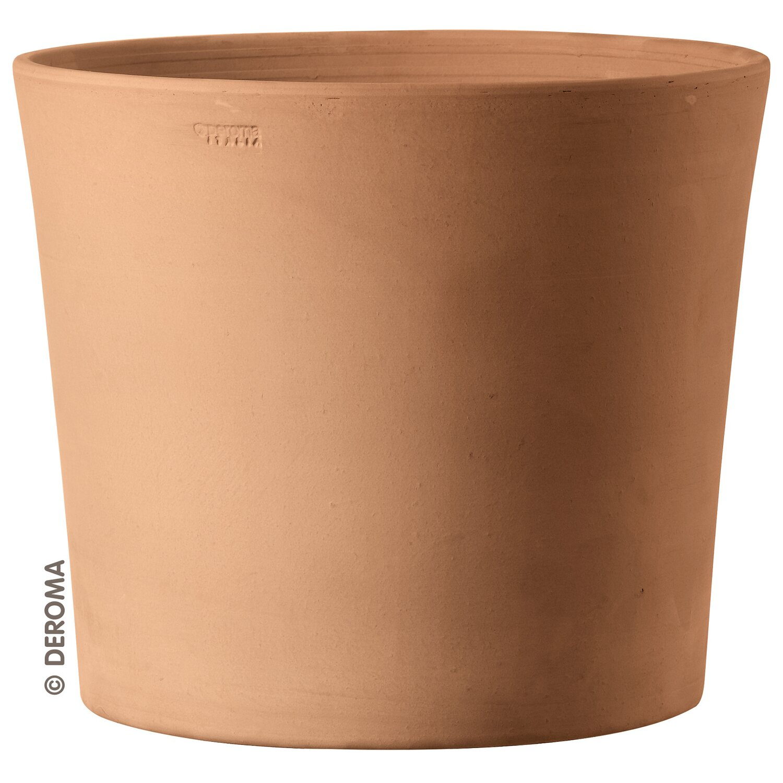 Deroma tontopf cilindrico terracotta weiss 25 cm kaufen bei obi for Terracotta gartendekoration