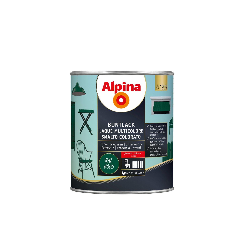 alpina buntlack glänzend ral 6005 moosgrün 750 ml kaufen